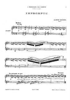 Экспромт для фортепиано, Op. 21: Экспромт для фортепиано by Альбер Руссель