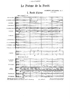 Симфония No.1 'Поэма леса', Op.7: Симфония No.1 'Поэма леса' by Альбер Руссель