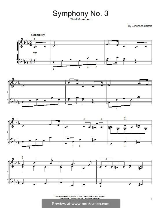 Часть III: Theme. Version for easy piano by Иоганнес Брамс