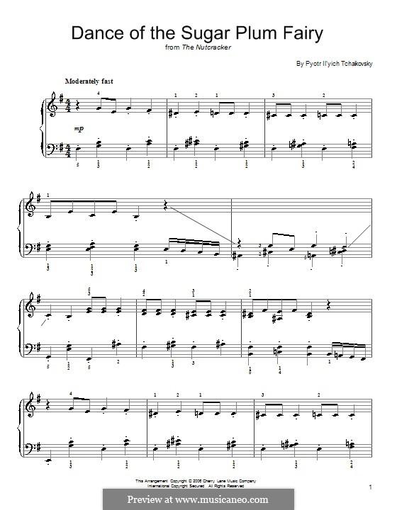 No.3 Танец феи Драже, для фортепиано: Easy version by Петр Чайковский