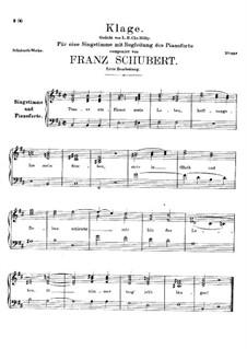Trauer umfliesst mein Leben (Sorrow Floods My Life), D.292: Trauer umfliesst mein Leben (Sorrow Floods My Life) by Франц Шуберт