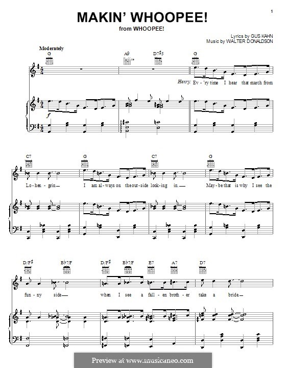 Makin' Whoopee!: Для голоса и фортепиано или гитары (Eddie Cantor) by Уолтер Дональдсон