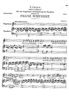 Liane, D.298: C Major by Франц Шуберт