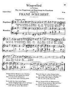 Колыбельная песня, D.304: Колыбельная песня by Франц Шуберт