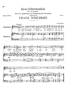 Idens Schwanenlied (Ida's Swan Song), D.317: Idens Schwanenlied (Ida's Swan Song) by Франц Шуберт