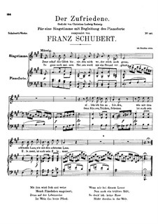 Der Zufriedene (The Contented Man), D.320: A Major by Франц Шуберт