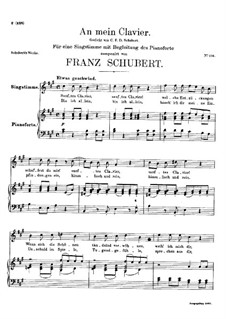 An mein Klavier (To My Piano), D.342: A Major by Франц Шуберт