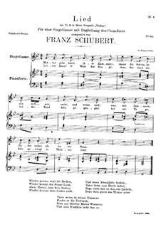 Mutter geht durch ihre Kammern (Mother Goes Through Her Rooms), D.373: G minor by Франц Шуберт