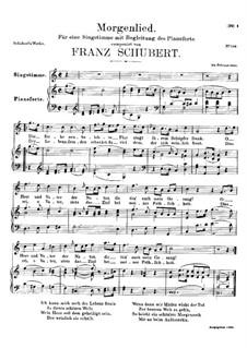 Утренняя песня, D.381: До мажор by Франц Шуберт
