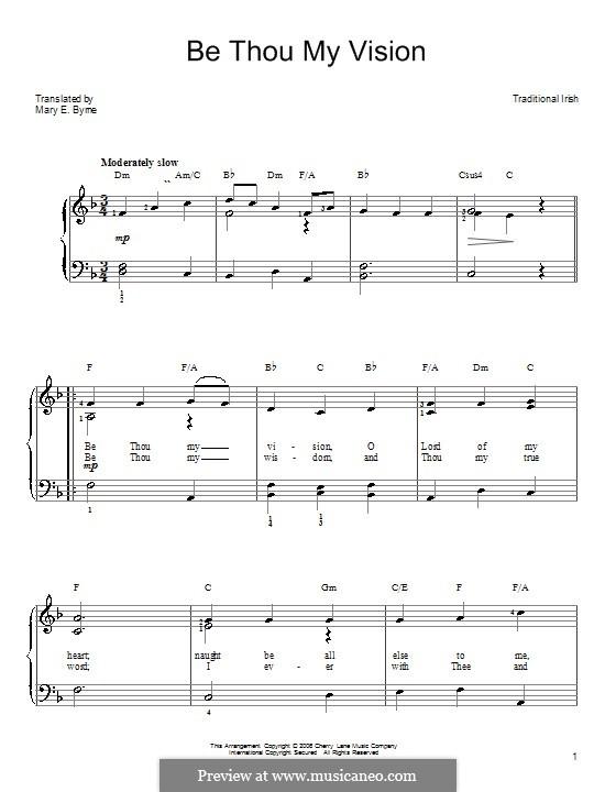Be Thou My Vision: Для фортепиано (легкий уровень) by folklore