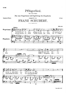 Pflügerlied (Ploughman's Song), D.392: C Major by Франц Шуберт