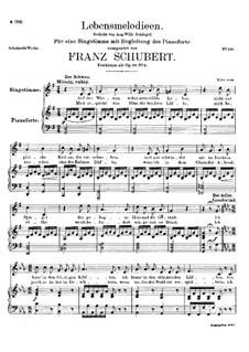 Lebensmelodien (Melodies of Life), D.395 Op.111 No.2: Для голоса и фортепиано by Франц Шуберт