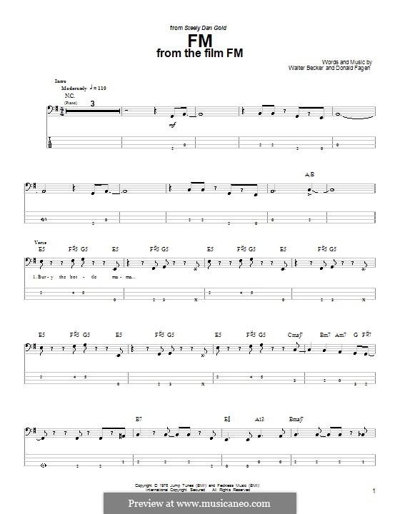 FM (Steely Dan): Для бас-гитары с табулатурой by Donald Fagen, Walter Becker