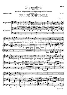 Blumenlied (Flower Song), D.431: E Major by Франц Шуберт