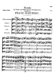 Рондо для скрипки и струнного квартета ля мажор, D.438: Рондо для скрипки и струнного квартета ля мажор by Франц Шуберт