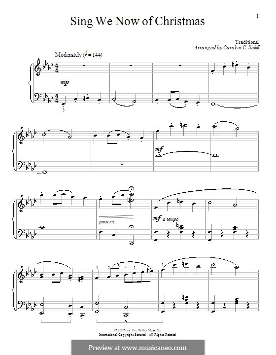 Sing We Now of Christmas (from Morning Star): Для фортепиано (F Minor) by folklore