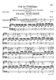 Gott im Frühlinge (God in Spring), D.448: E Major by Франц Шуберт