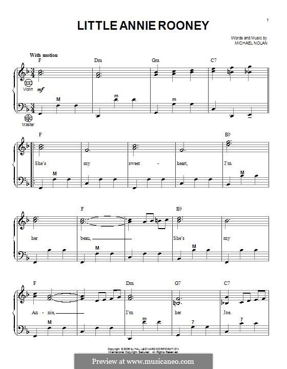 Little Annie Rooney: Для аккордеона by Michael Nolan