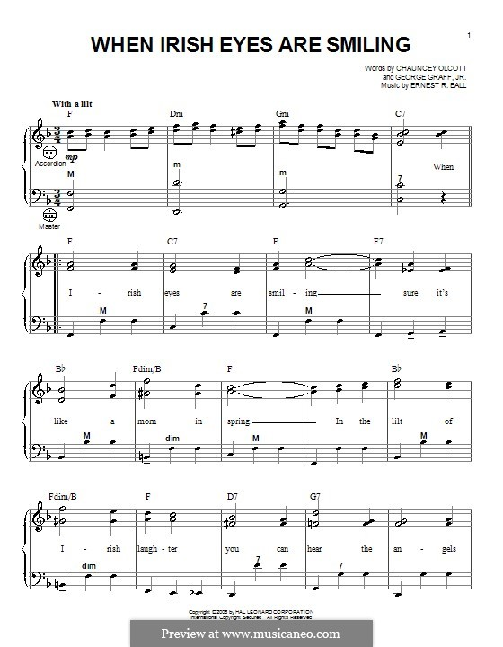 When Irish Eyes Are Smiling: Для аккордеона by Ernest R. Ball