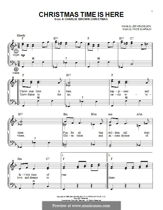 Christmas Time is Here: Для аккордеона by Vince Guaraldi