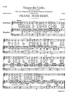 Trauer der Liebe (Love's Sorrows), D.465: A flat Major by Франц Шуберт