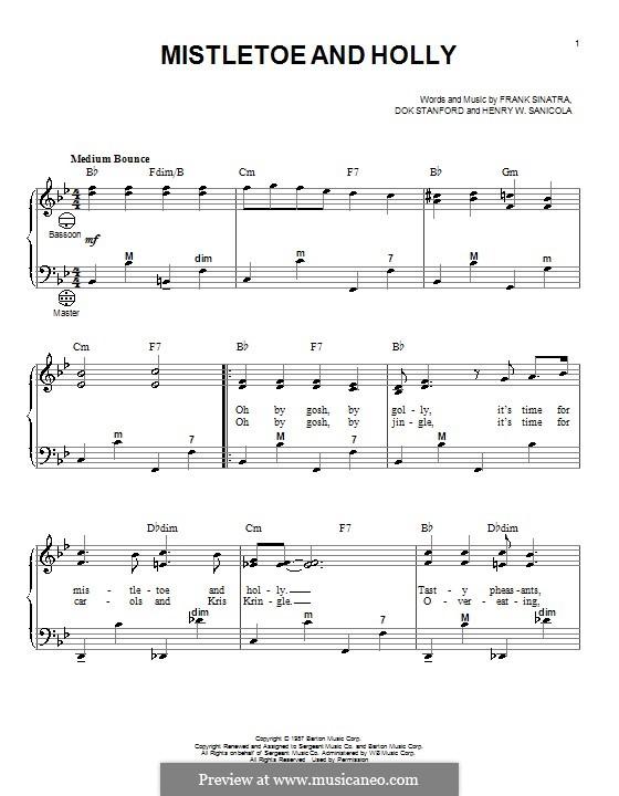 Mistletoe and Holly (Frank Sinatra): Для аккордеона by Dok Stanford, Henry W. Sanicola