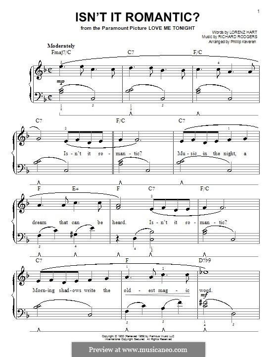 Isn't it Romantic?: Для фортепиано (легкий уровень) by Richard Rodgers