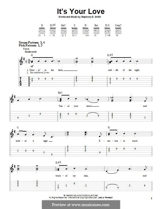 It's Your Love (Tim McGraw and Faith Hill): Для гитары (очень легкая версия) by Stephony Smith