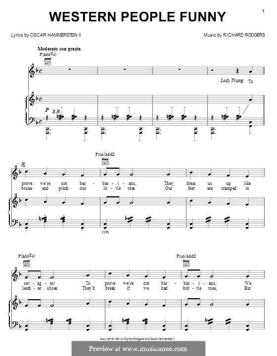 Western People Funny: Для голоса и фортепиано (или гитары) by Richard Rodgers