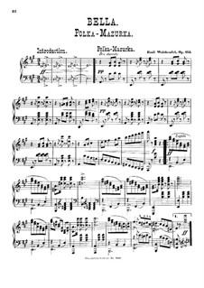 Белла. Полька-мазурка, Op.113: Для фортепиано by Эмиль Вальдтойфель
