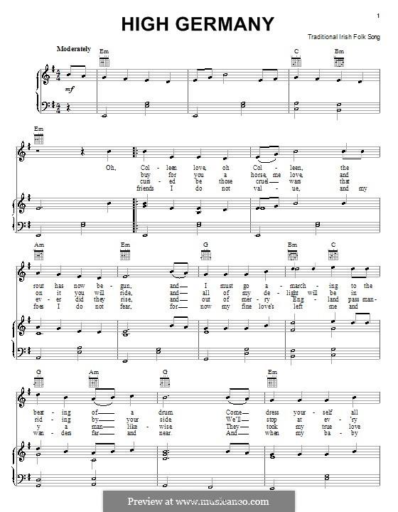 High Germany: Для голоса и фортепиано (или гитары) by folklore