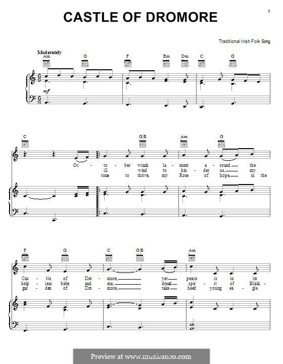 Castle of Dromore: Для голоса и фортепиано (или гитары) by folklore
