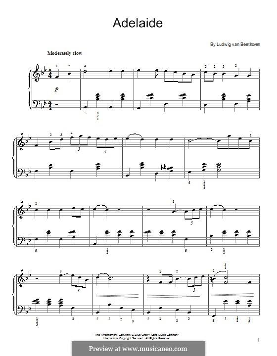 Аделаида, Op.46: Клавир by Людвиг ван Бетховен