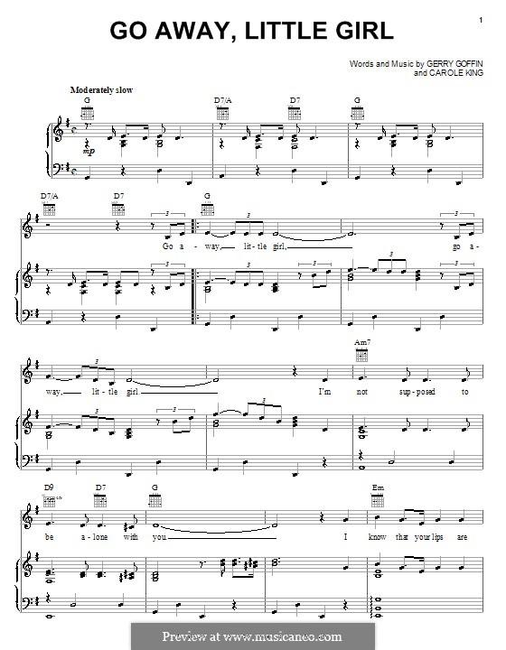 Go Away, Little Girl: Для голоса и фортепиано (или гитары) by Carole King, Gerry Goffin