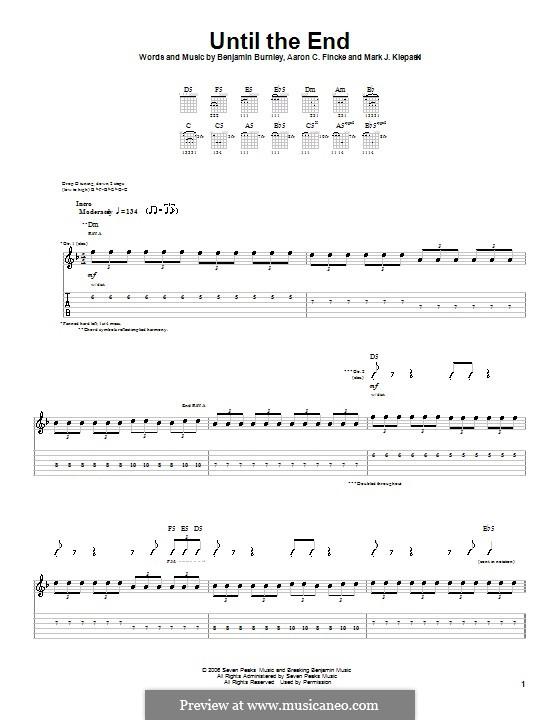Until the End (Breaking Benjamin): Гитарная табулатура by Aaron C. Fincke, Benjamin Burnley, Mark J. Klepaski