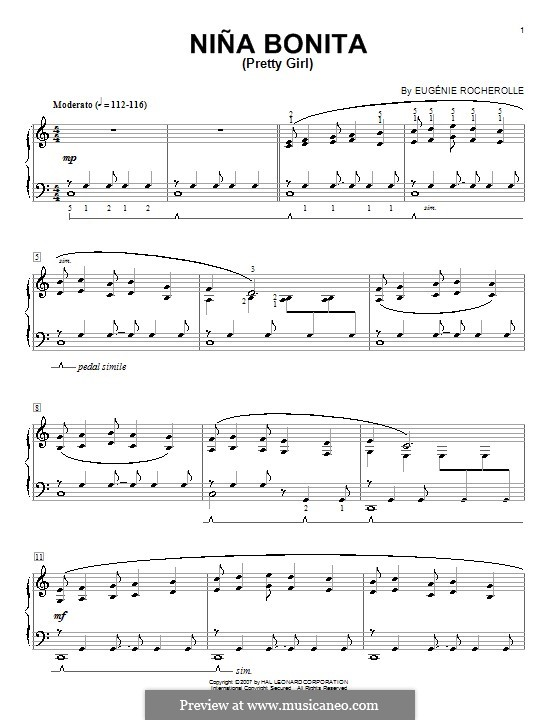 Nina Bonita (Pretty Girl): Для фортепиано by Eugénie Rocherolle