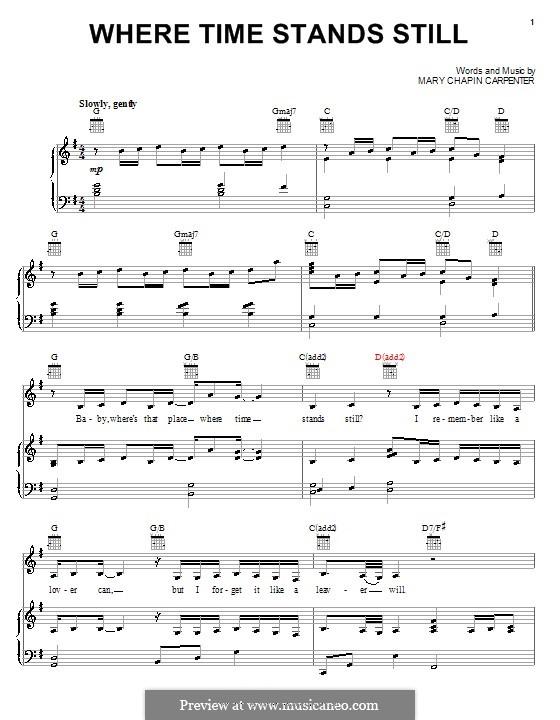 Where Time Stands Still: Для голоса и фортепиано (или гитары) by Mary Chapin Carpenter