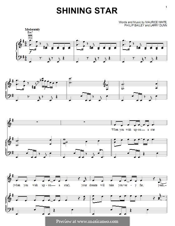 Shining Star (B Five): Для голоса и фортепиано (или гитары) by Larry Dunn, Maurice White, Philip Bailey