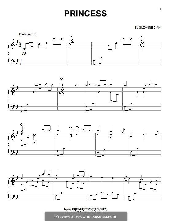 Принцесса: Для фортепиано by Suzanne Ciani