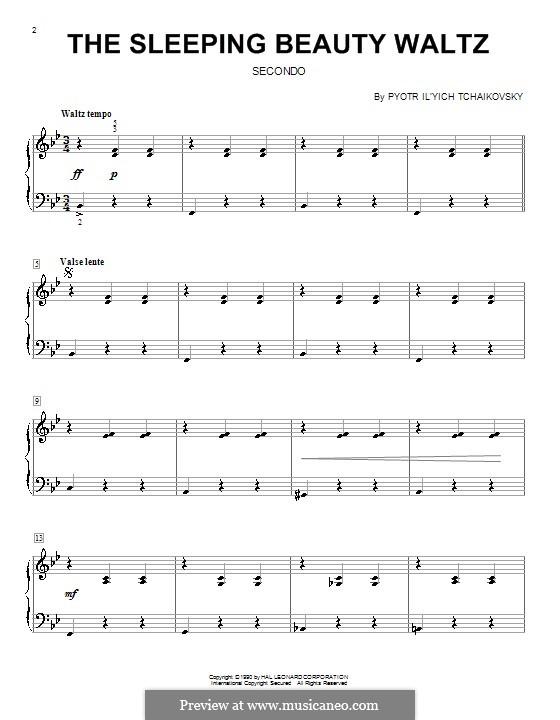 Вальс: Для фортепиано в четыре руки (Фрагмент) by Петр Чайковский