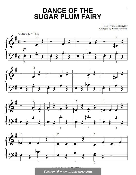 No.3 Танец феи Драже, для фортепиано: Very easy vesrion by Петр Чайковский