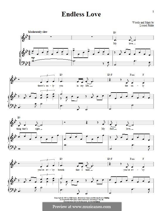 Endless Love: Для голоса и фортепиано (или гитары) by Lionel Richie