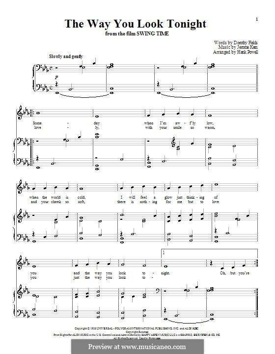 Vocal-instrumental version: Для голоса и фортепиано (или гитары) by Джером Керн