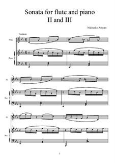 Соната для флейты и фортепиано (1 часть): 2 и 3 части by Артем Никитенко