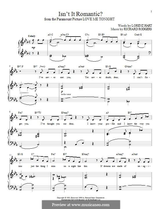 Isn't it Romantic?: Для голоса и фортепиано (или гитары) by Richard Rodgers