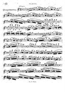 Квинтет для флейты и струнных соль мажор, Op.101 No.6: Квинтет для флейты и струнных соль мажор by Франц Кроммер