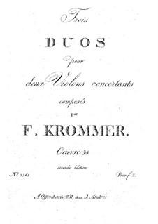 Три дуэта для двух скрипок, Op.54: Партии by Франц Кроммер
