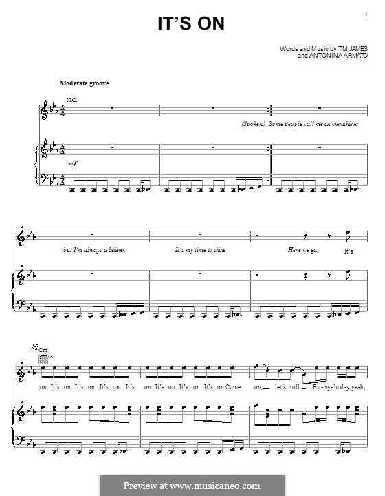 It's On (N.L.T.): Для голоса и фортепиано (или гитары) by Antonina Armato, Timothy James
