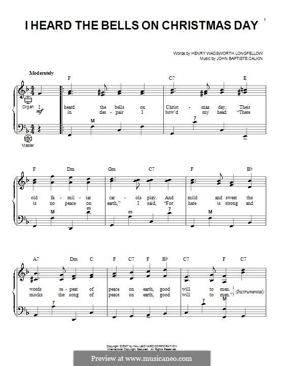 I Heard the Bells on Christmas Day: Для аккордеона by Джон Батист Калкин
