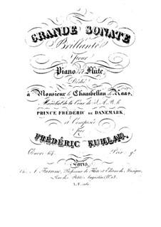 Большая блестящая соната для флейты и фортепиано, Op.64: Партии by Фридрих Кулау